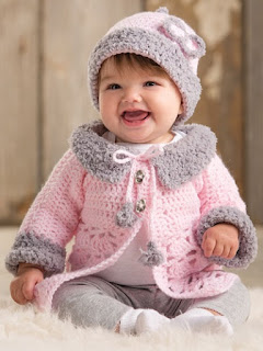 Modern Baby Sweater Set