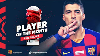 Suarez wins La Liga POTM for Dec with 3 goals & 6 assists