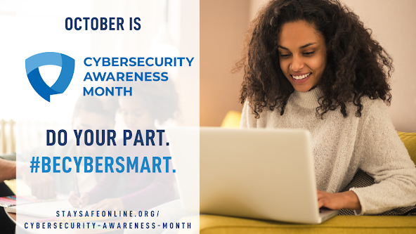 Graphic for: Do Your Part. #BeCyberSmart', helping to empower individuals and organizations to own their role in protecting their part of cyberspace