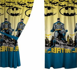 curtains teenagers kids room batman theme room decor ideas