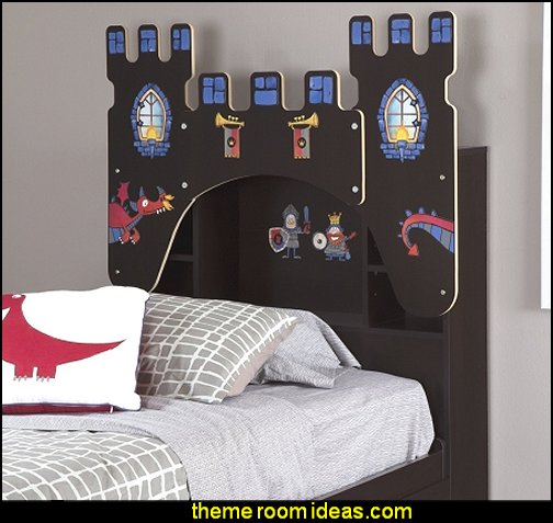 Castle Themed Vito Twin Bookcase Headboard