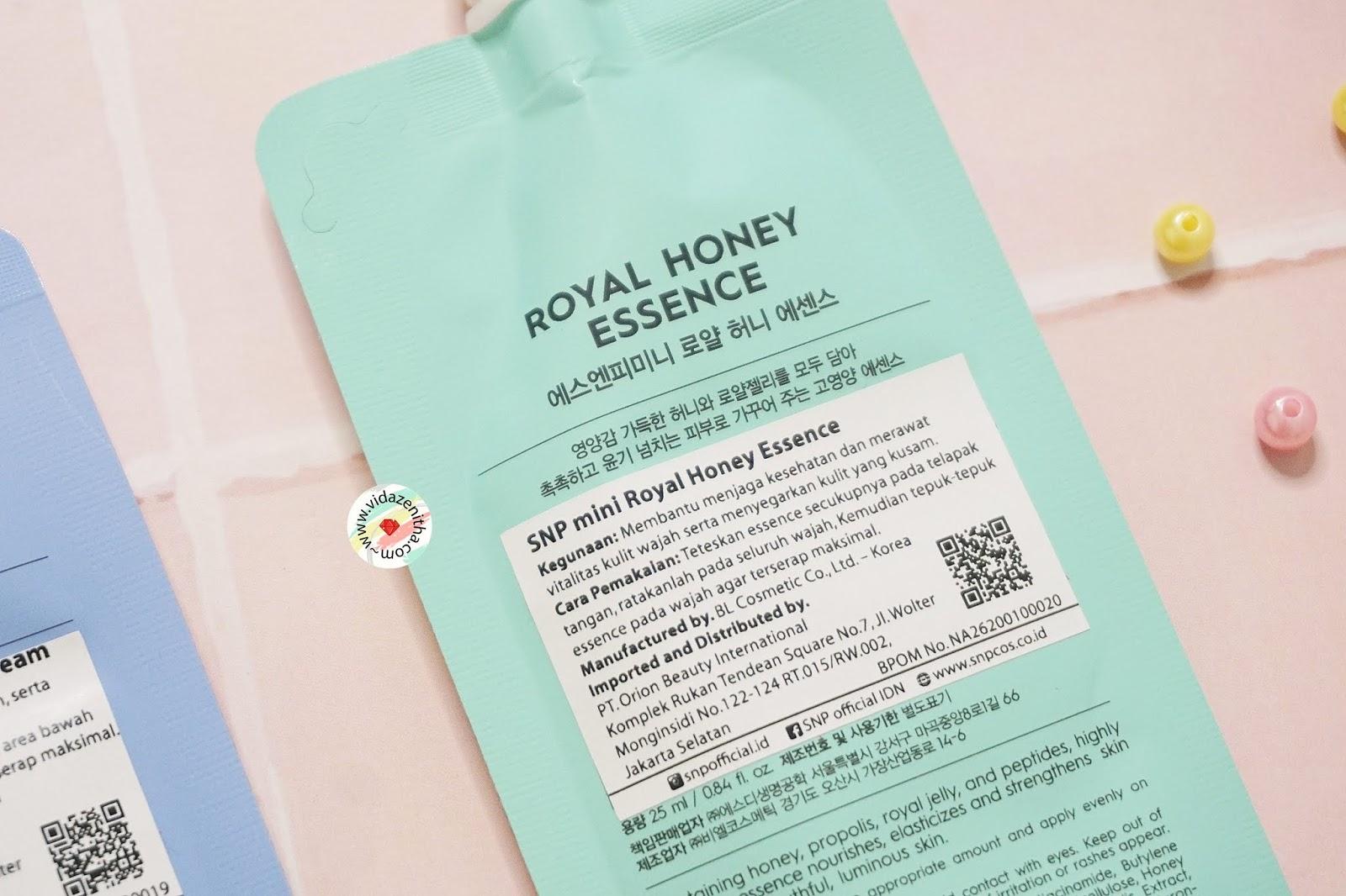 Review SNP Mini Royal Honey Essence rekomendasi essence korea