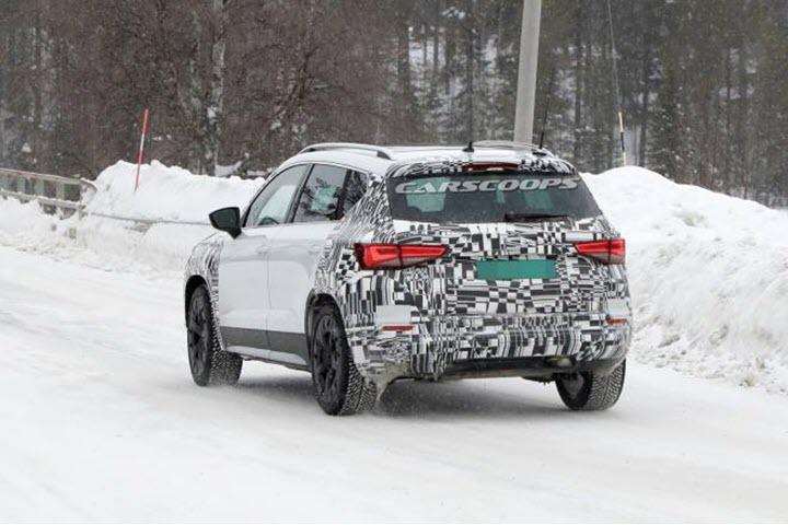 Hình ảnh lộ diện phần đuôi xe SUV Ateca bản cập nhật 2021.