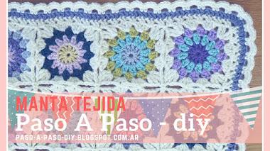 Manta tejida de colores - DIY