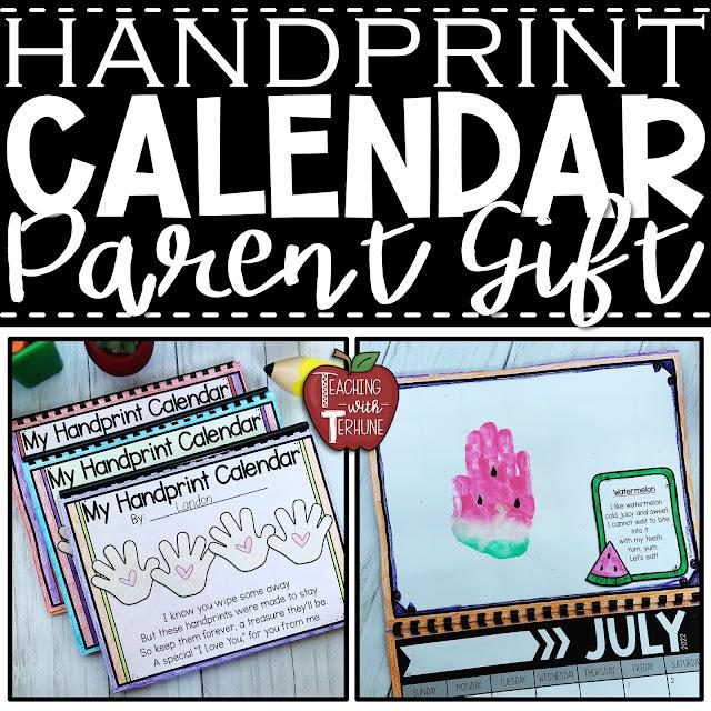 Handprint Calendars Parent Gift