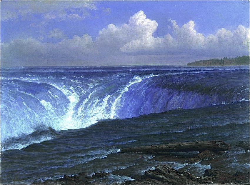 Albert Bierstadt painting of a waterfall