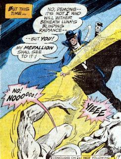 Phantom Stranger #26, demons destroyed by the moon