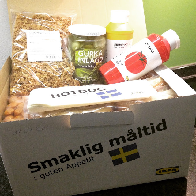 Hotdog-Party mit der Ikea-Party-Box