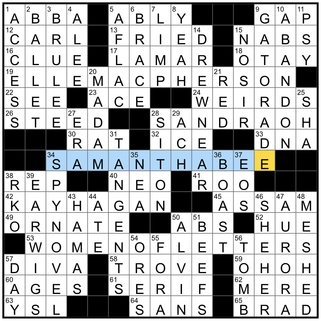 Rex Parker Does The Nyt Crossword Puzzle Typical John Le Carre Work Mon 12 14 20 Greek Goddess Of The Dawn Gangnam Style Rapper Kendrick With 13 Grammys And A Pulitzer Prize
