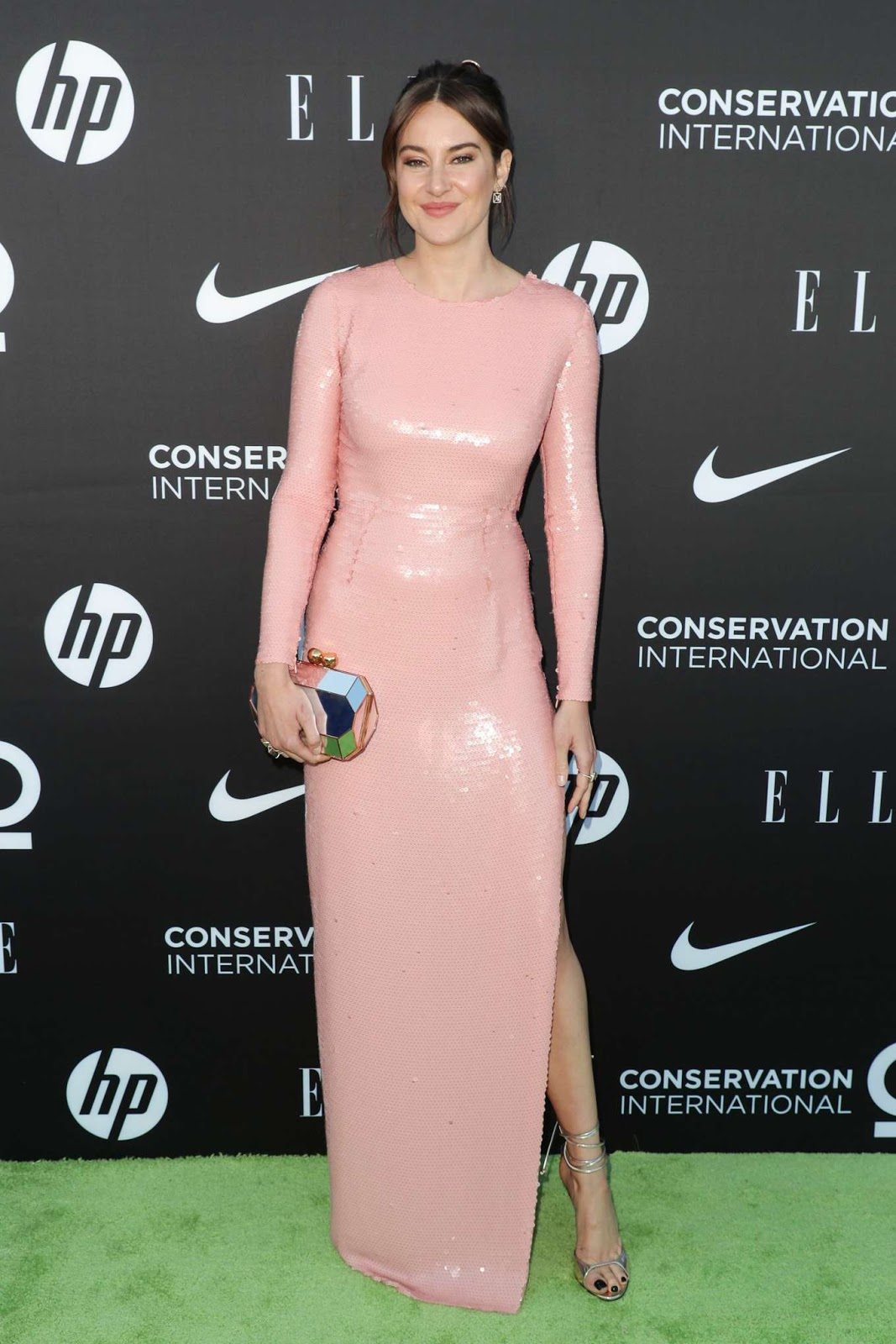 Shailene Woodley glistens in pink at the Women in Conservation Event in LA