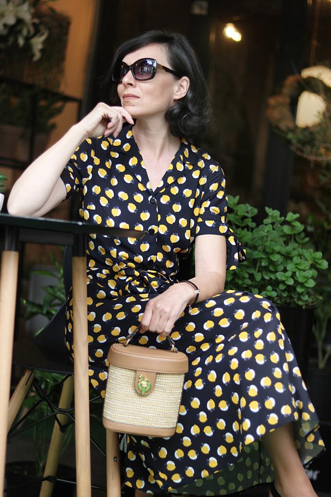 stylizacje sukienka blog modowy 45+