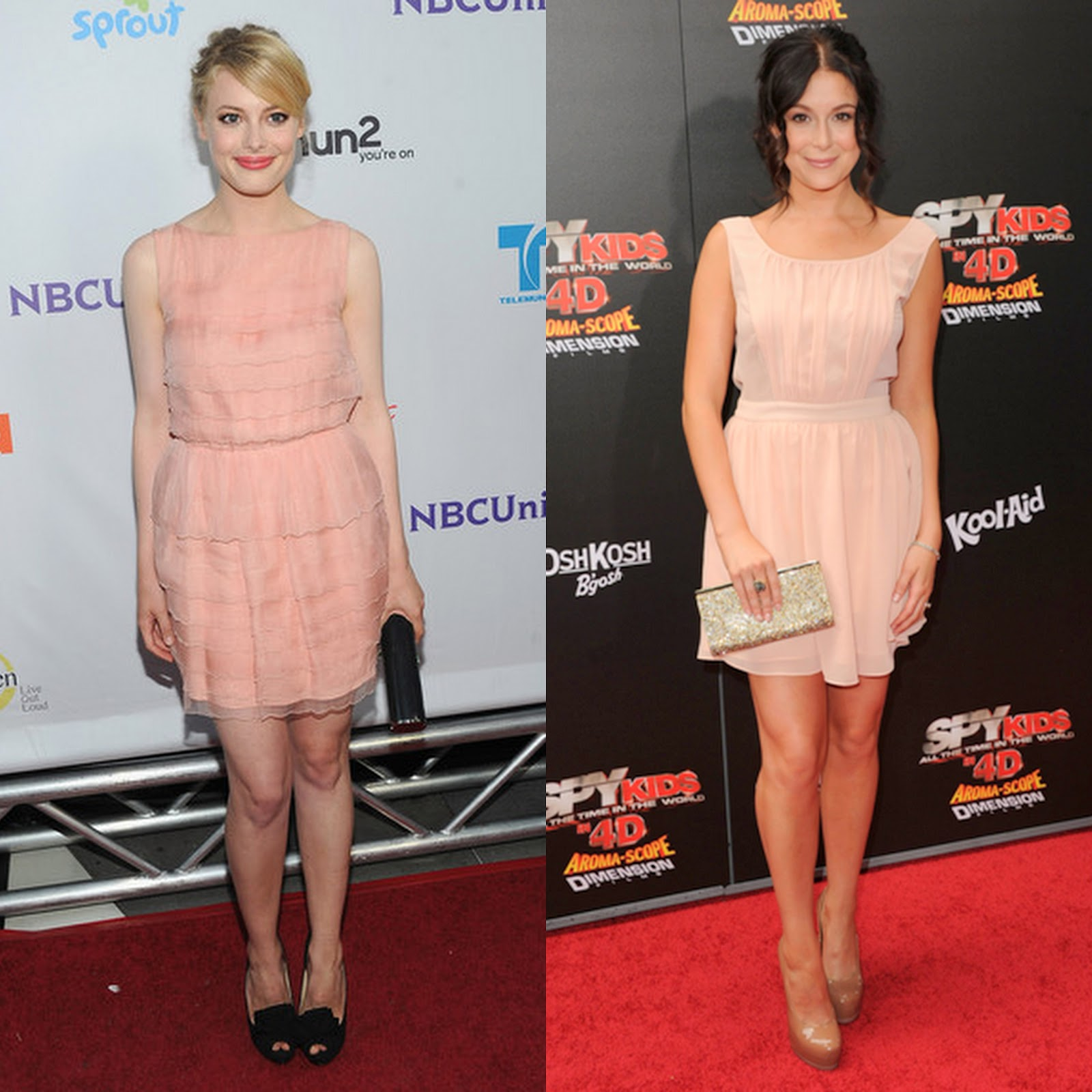 I Was Delighted By These Two Dresses That Were Worn On The Red Carpet This Week Which Are In My Cur Colour Crush Peach