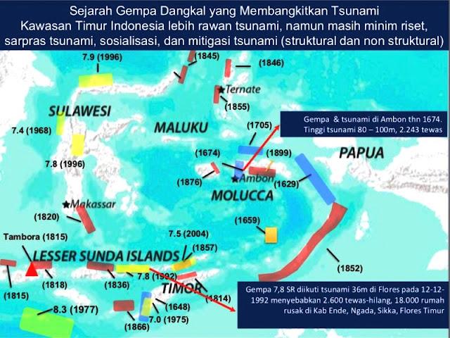 Sejarah Gempa Tsunami Di Indonesia Timur