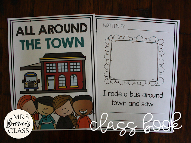 Wheels on the Bus book study activities unit with Common Core aligned literacy activities and a craftivity for Kindergarten and First Grade
