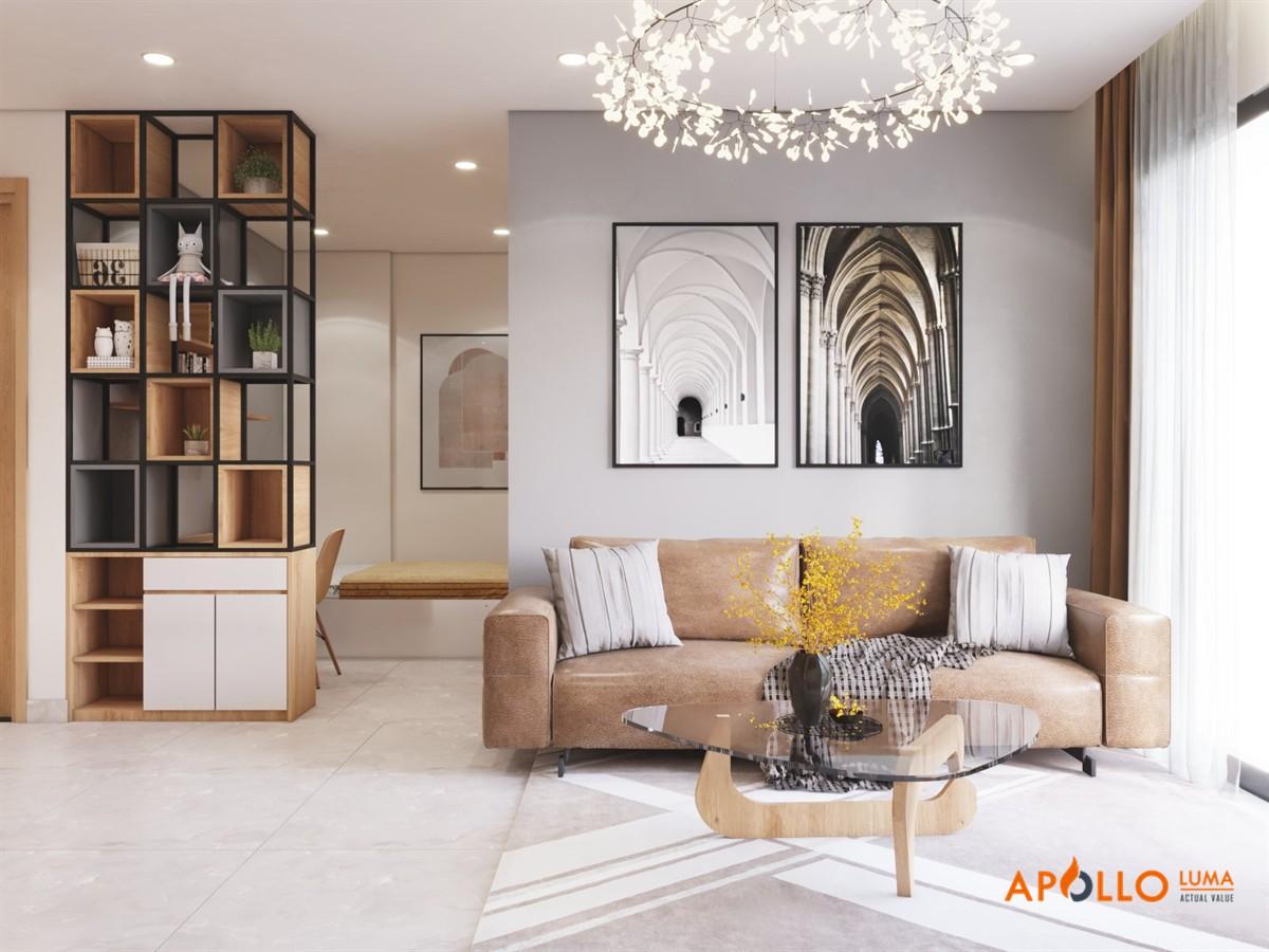 Thiết kế nội thất căn hộ 43m2 (1PN+1) Vinhomes Ocean Park