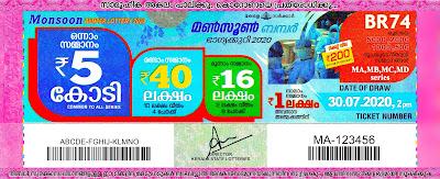 30-07-2020 Monsoon Bumper kerala lottery result,kerala lottery result today 30-07-21,Monsoon Bumper lottery BR-74,lottery result live