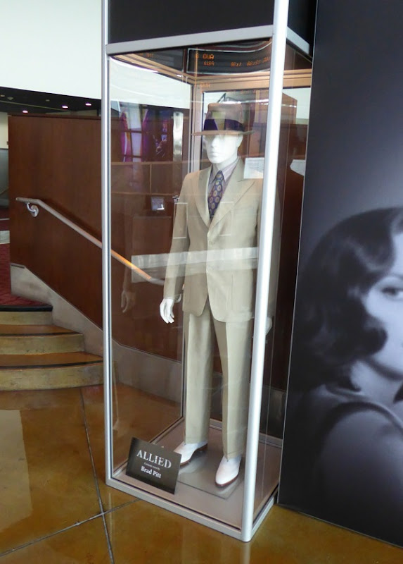 Brad Pitt Allied costume exhibit