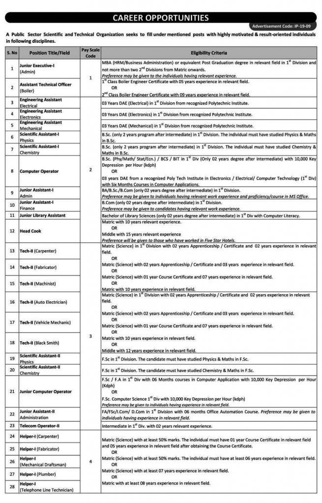 Jobs In Pakistan Atomic Energy 2019 Apply Online Advertisement No 1