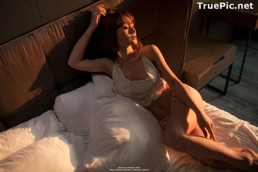 Image Taiwanese Model - Xin Ya - White Lace Lingerie For You - TruePic.net - Picture-2