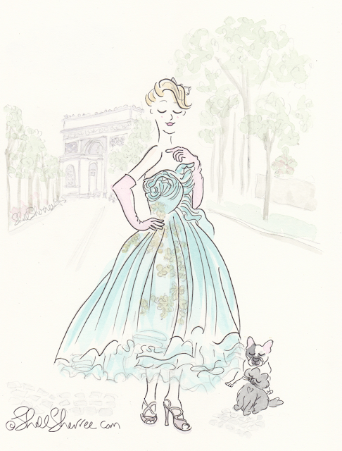 Fashion and Fluffballs illustration: Dior de Triomphe © Shell-Sherree