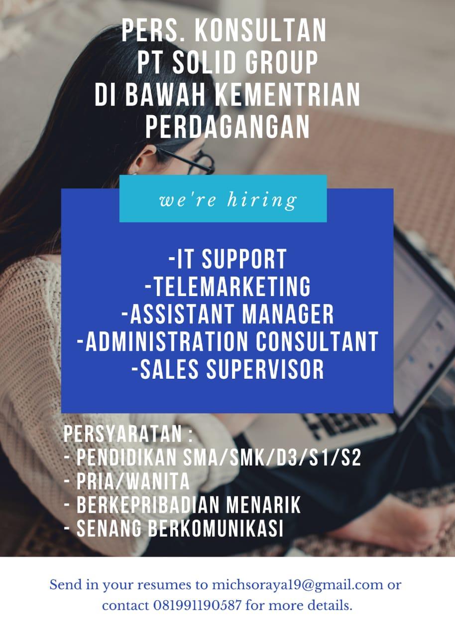 Lowongan Kerja PT. Solid Group Bandung Januari 2021