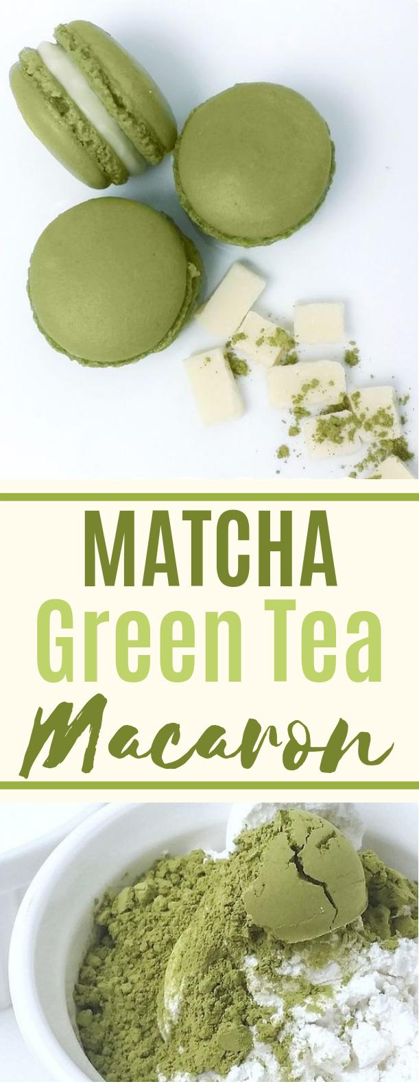 """""""Matcha"""" Green Tea Macaron #matcha #cookies"""