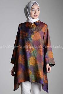 Desain Baju Batik Wanita Muslimah