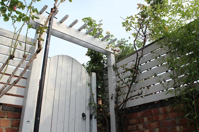 DIY Pergola Over Gate