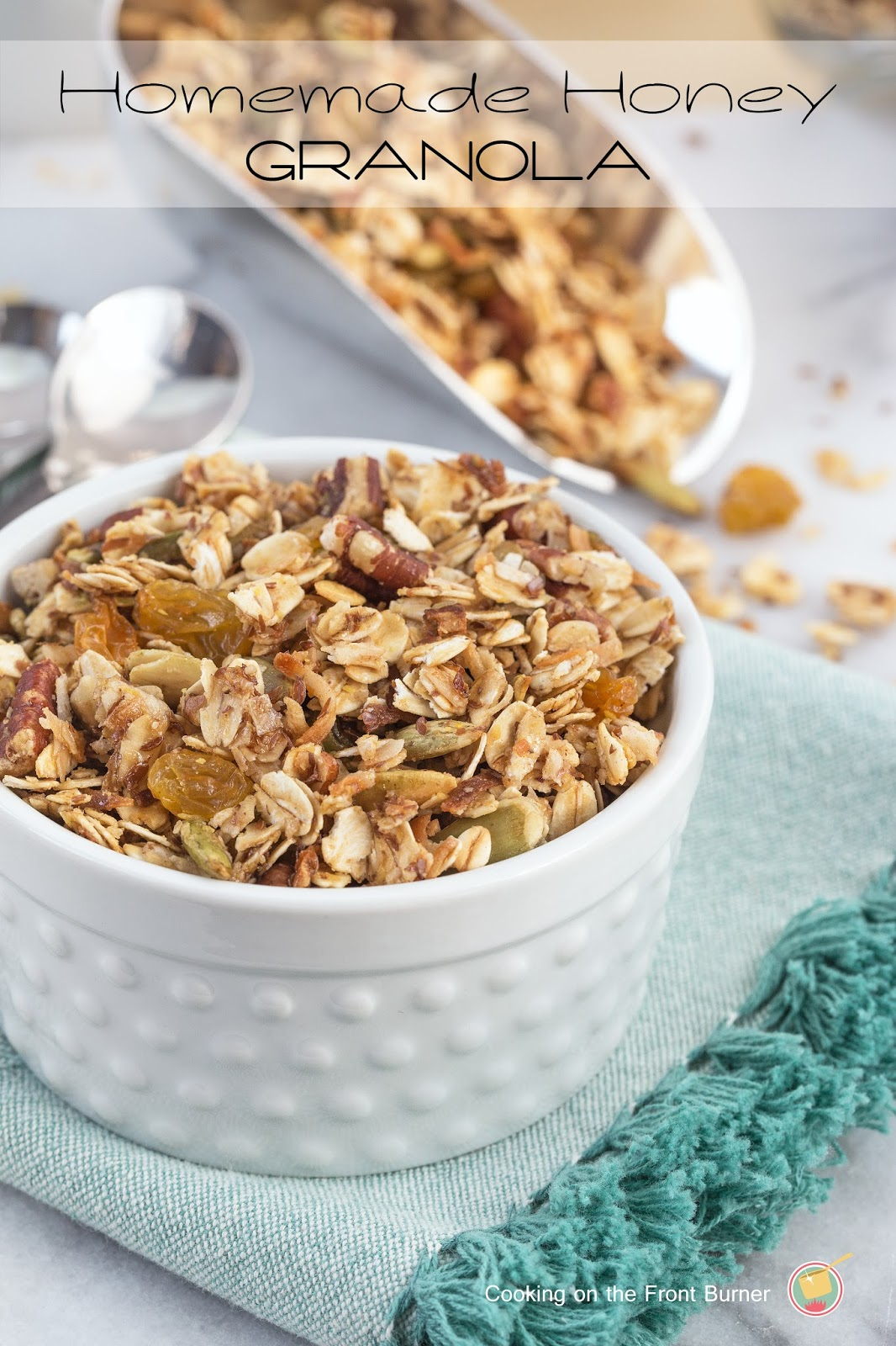 Homemade Honey Granola | Cooking on the Front Burner