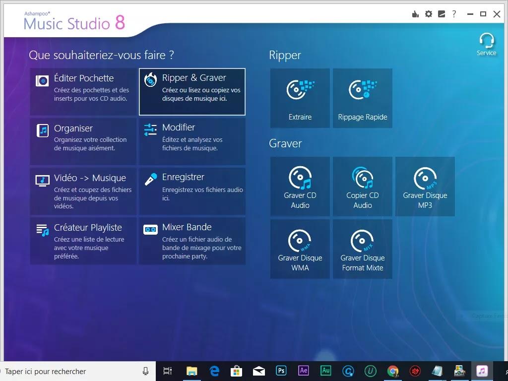 تحميل برنامج Ashampoo Music Studio 8.0.1 لمعالجة الصوت وتحويله وحرق القرص