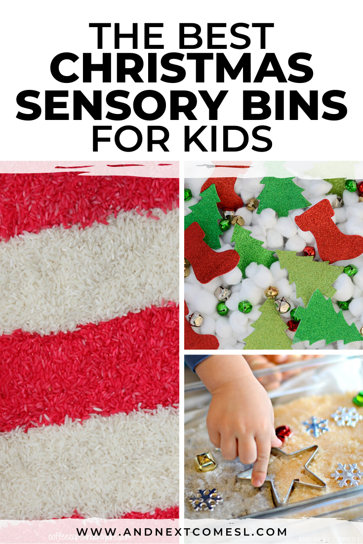 Looking for Christmas sensory bin activities? Your toddlers and preschool kids will love these holiday themed sensory bins!