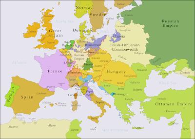 L'Europe en 1740
