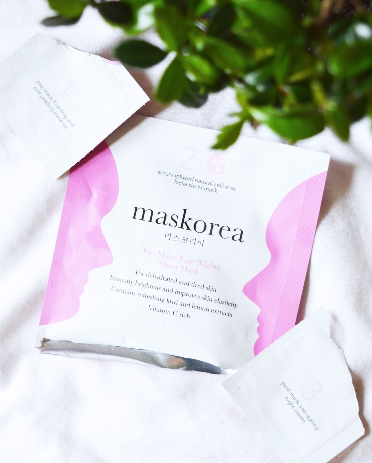 maskorea sheet mask and bonsai