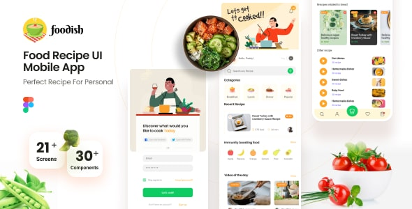 Best Food Recipes Mobile App Template