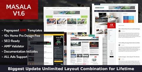 Masala Blogger Template Free Download | Masala Blogger them Download