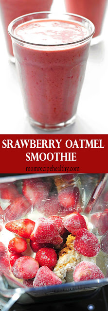 Strawberry Oatmeal Smoothie Recipe {+video}