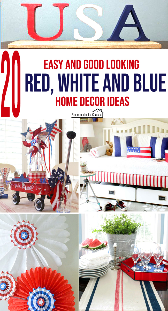 red white and blue decor ideas