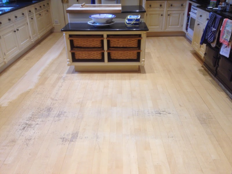 White Oil Maple Floor Boards Taken Back And Re Oiled With