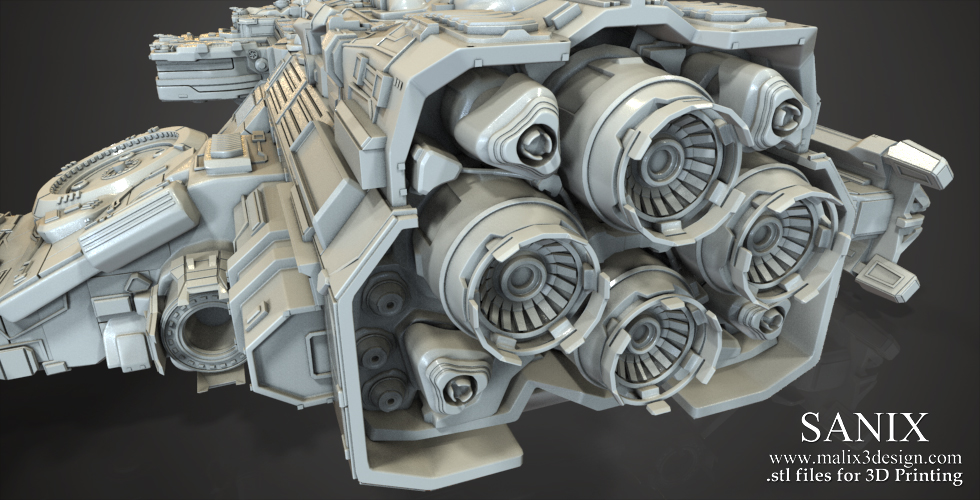 StarCraft - Hyperion Space Ship / 3D Printable Model | www