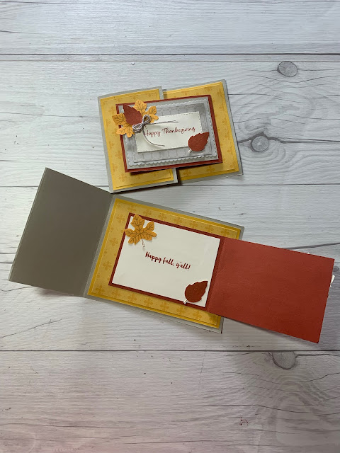 Thanksgiving and Fall Handmade greeting Card ideas using stamps from the 2021 September Paper Pumpkin Kit