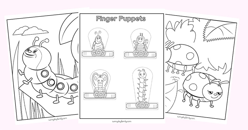 10 Free Printable Insect Activity Pages For Kids Sunny Day Family