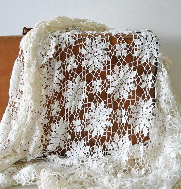 Queen-Anne's crochet Lace-Motif, flower motif, Vintage