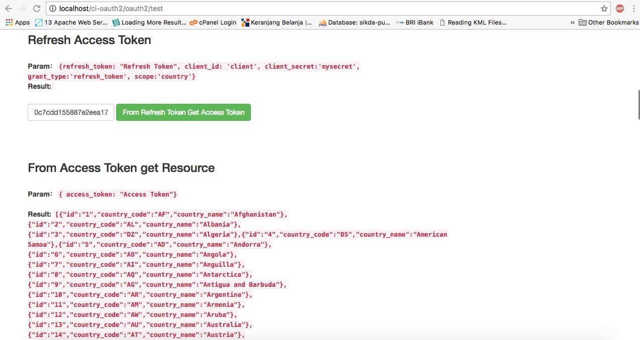 Tutorial OAuth2 dengan CodeIgniter