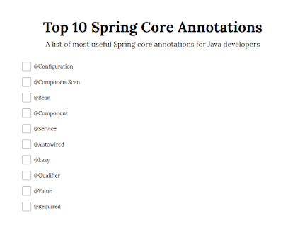 Top 10 Spring Framework Annotations for Java Developers