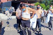 Personel Polres Minsel Tanggalkan Seragam Dinas