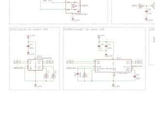 Circuito de interrupção das linhas de dados, e circuito de detecção do dispositivo.