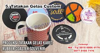 Tatakan Gelas Custom merupakan salah satu hadiah untuk cewek yang doyan makan
