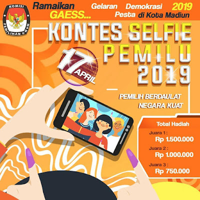 KPU Kota Madiun Gelar Kontes Selfie Pemilu 2019