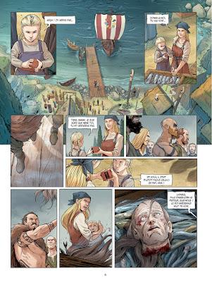 Lydveig et sa fille menacées par les vikings