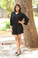 Actress Hebah Patel Stills in Black Mini Dress at Angel Movie Teaser Launch  0084.JPG